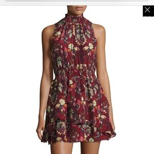 Floral Floral-Print Sleeveless Dress, Rusty Red